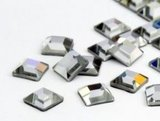 Swarovski Flat Backs Square 4mm Crystal 12pcs (25)_