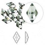 Swarovski Flat Backs Rhombus Black Diamond 10x6mm 6pcs (19)_
