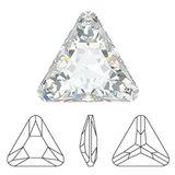 Swarovski Flat Backs Rivoli Triangle Diamond 5mm 6pcs (20)_