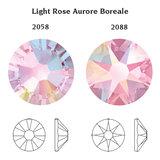 Swarovski Xilion Flat Backs SS12 Light Rose AB 70pcs (47)_