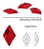 Swarovski Flat Backs 10x6mm Light Siam 6pcs (2)_