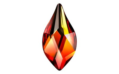 Swarovski Flat Backs 7,5mm Fire Opal Flame 6 stks. (8)