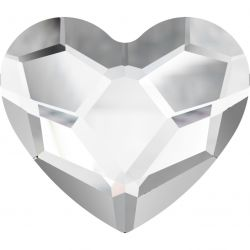 Swarovski Flat Backs Crystal Heart 6mm 6pcs (15)