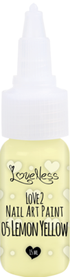 LoveNess | Love 2 Nail Art Paint Lemon Yellow 005