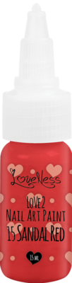 LoveNess | Love 2 Nail Art Paint Sandal Red 015