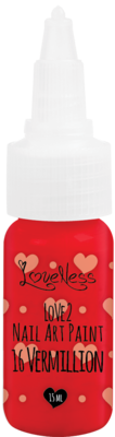 LoveNess | Love 2 Nail Art Paint Vermilion 016