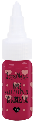 LoveNess | Love 2 Nail Art Paint Bordeaux 018