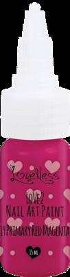 LoveNess | Love 2 Nail Art Paint P. Red Magenta 019