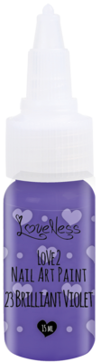 LoveNess | Love 2 Nail Art Paint Brilliant Violet 023