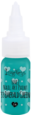 LoveNess | Love 2 Nail Art Paint Emerald Green 033