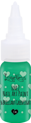 LoveNess | Love 2 Nail Art Paint B. Green Light 036