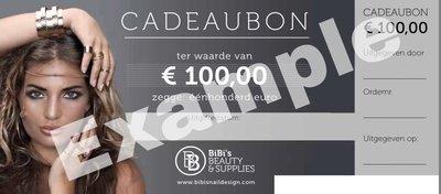 Cadeaubon t.w.v. € 100,-