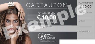 Cadeaubon t.w.v. € 10,-