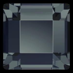 Swarovski Flat Backs Square 4mm Graphite 12pcs (26)