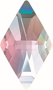 Swarovski Flat Backs Rhombus 13x8mm Crystal  AB 6pcs (81)