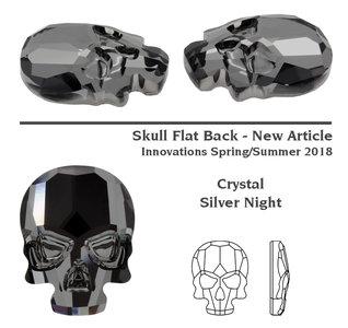 Swarovski Skull 2856 Silver Knight 3pcs (83)