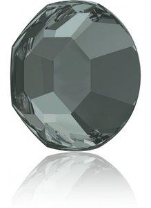 Swarovski Rose Flat Backs SS3 Black Diamond 70pcs (93)